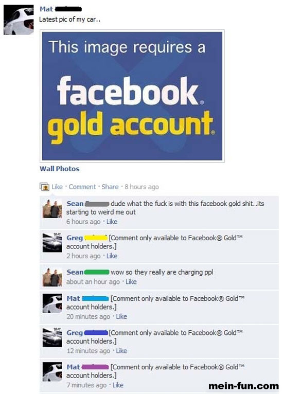 Facebook fail facebook gold