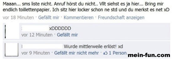 facebook fail toilettenpapier