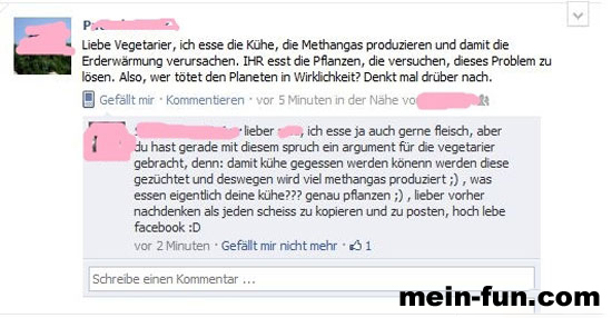facebook fail vegetarier