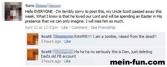 facebook fail zombie-onkel