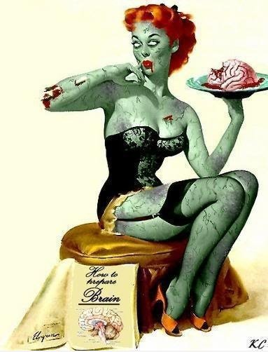 Frau Pin Up Zombie