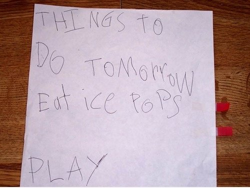 Kid ist To-do-Liste