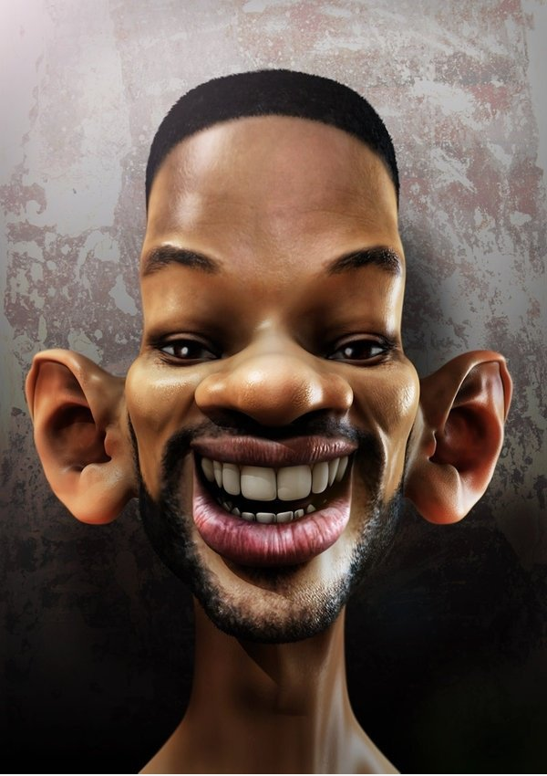 Will Smith in der Karikatur