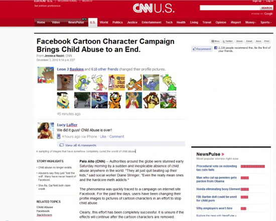 child abuse cured by facebook cartoon pictures
