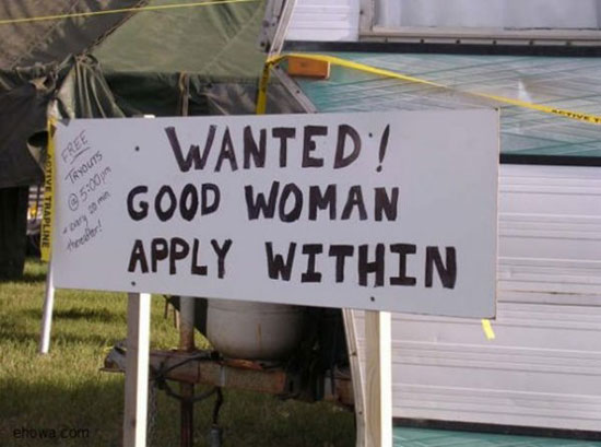 good woman wanted