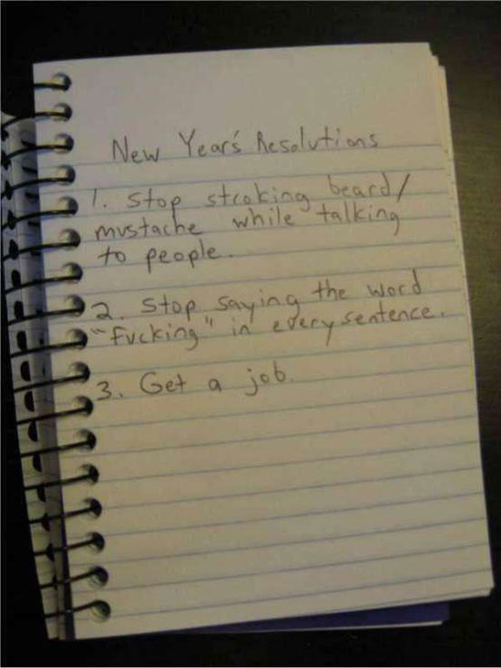 new yearrsquos resolutions