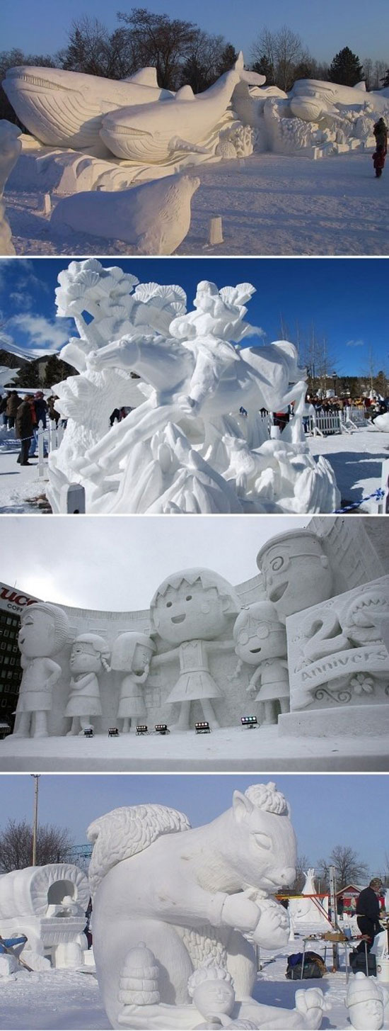 The best snow sculptures ever