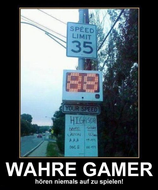 Wahre Gamer - DeMotivational Bild