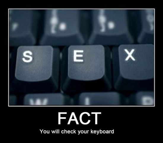 You will check your keyboard