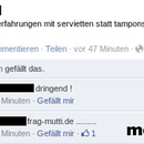 facebook fail servietten tampon
