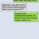 sms fail eismachine