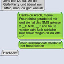 sms fail geile party