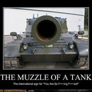 the muzzle of tank